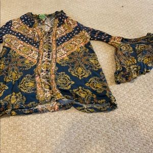 Free people blouse sz small